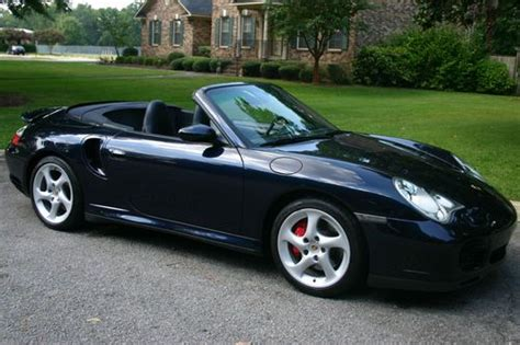 blue porsche convertible sell used 2005 porsche 911 turbo convertible midnight blue