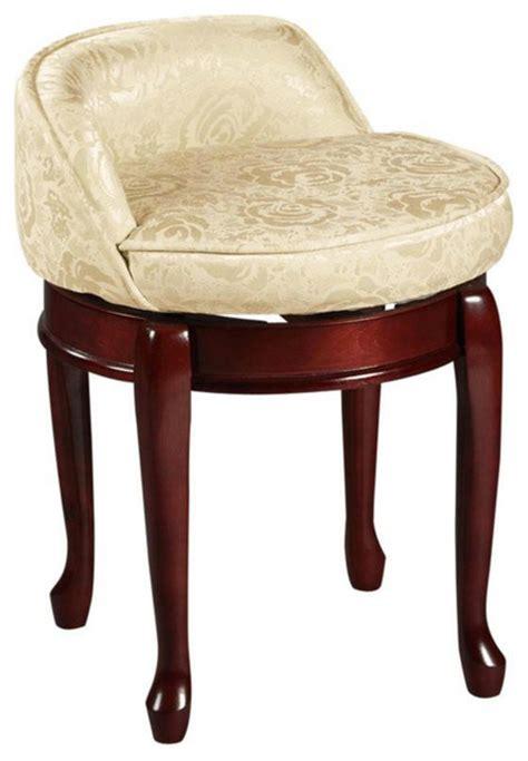 low back swivel vanity stool transitional vanity