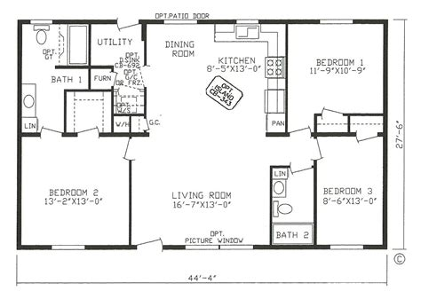 corner rectangle house plan  bedrooms small house plans house plans
