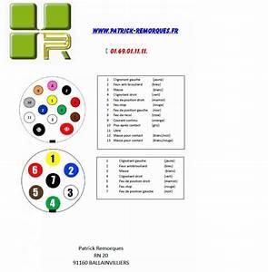 Cablage Attache Remorque : plan branchement prise 7 et 13 plots schema prise 7 et 13 broches patrick remorques patrick ~ Medecine-chirurgie-esthetiques.com Avis de Voitures