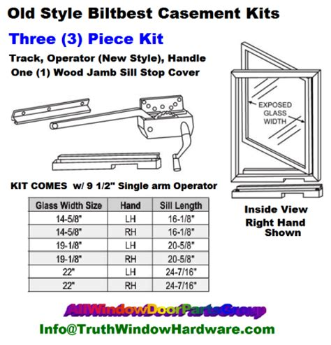 bilt   style imperial casement window replacement parts truth window hardware