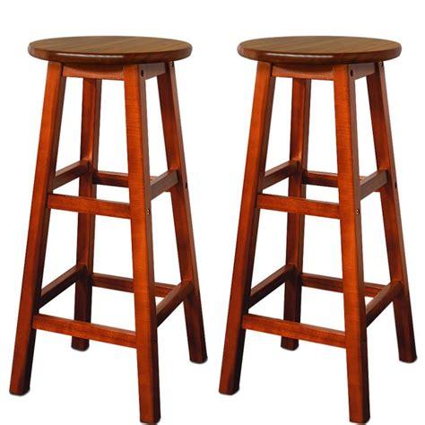 tabouret de bar ancien en bois 2 tabourets de bar en bois d acacia assise ronde achat vente tabouret de bar bois soldes