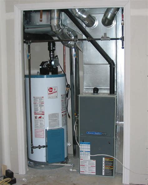 common mechanical room or furnace room should