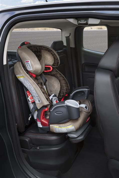 gmc canyon debuts innovative child seat solution wallace