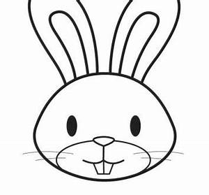 Bunny Face Outline Coloring Page | We Are All Magical ...