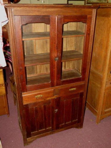 The China Cupboard by Rustic Primitive Oak Cupboard Jelly Cabinet Front