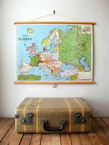 vintage school maps la boutique vintage With kitchen cabinets lowes with globe map wall art