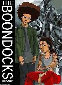 The Boondocks all grown up | Brown faces in Anime | Pinterest