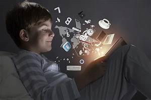 Little Boy Using Computer Tablet