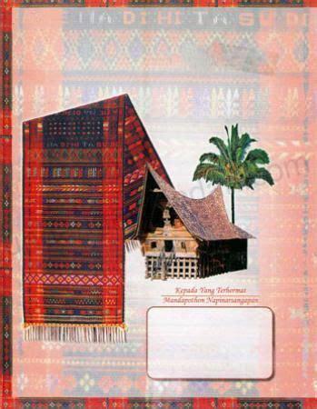 desain kartu undangan pernikahan masyarakat batak