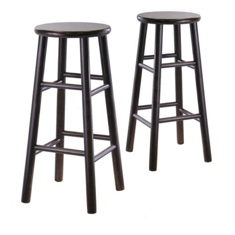 winsome wood s 2 wood 30 inch bar stools espresso finish