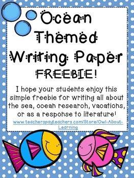 ocean animal themed writing paper freebie  owl