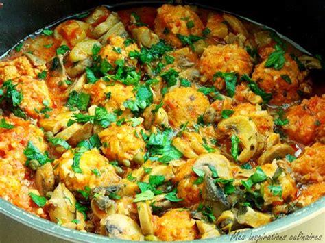 recette de cuisine facile et rapide algerien tajine de boulettes de poisson chignons et courgette