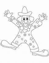 Clown Coloring Pages Clowns Dress Printable Gangster Template Popular Coloringhome sketch template