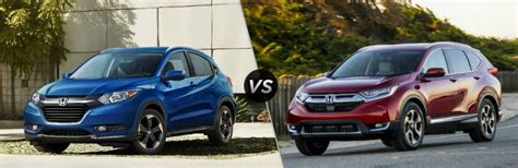 what is the difference between the 2018 honda hr v and cr v