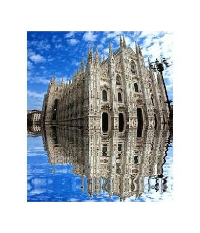 Italian Monuments Italy Animated Milan Naples Duomo