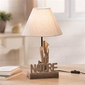 Lampe Design Bois : lampe a poser avec pied en bois ~ Teatrodelosmanantiales.com Idées de Décoration