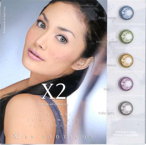 x2 disposable soft cosmetic lens