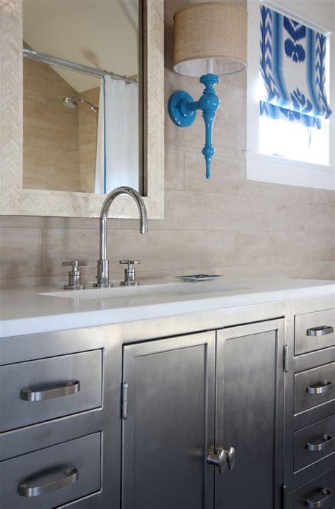 Metal Industrial Bathroom Vanity  Transitional  Bathroom. Pool Pavilion. Baja Leather Designs. Household Mold. Wooden Dresser. Red Curtains Living Room. Closet Lighting. Modern Sectionals. White Modern House