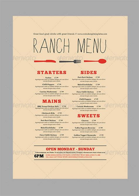 menu card template 47 menu card templates ai psd docs pages free