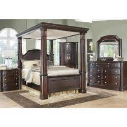 dumont canopy 6 pc queen bedroom rooms to go bedroom