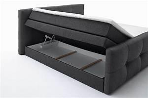 Boxspringbett Mit Bettkasten : black red white boxspringbett illinois chilli mit ~ Watch28wear.com Haus und Dekorationen