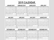 New Year Calendar 2019 Online Free Printable 2018