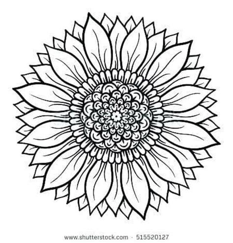 This post may contain affiliate links. sunflower mandala svg | Sunflower coloring pages, Mandala ...