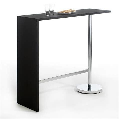 console snack cuisine table haute de bar ricardo mélaminé noir achat vente