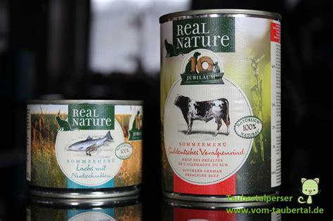 katzenfutter real nature katzenfutter im test real nature sommermen 252 taubertalperser