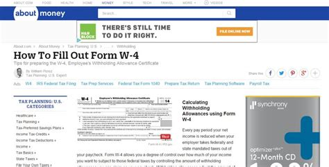 25 best ideas about w4 tax form federal w4 federal withholding form and federal