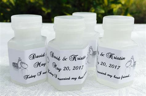 210 silver wedding rings personalized labels stickers for favors ebay