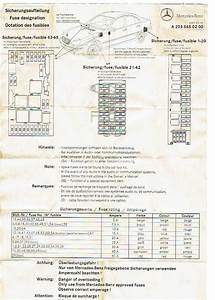 Fuse Diagram 2006 Mercede R350 Air