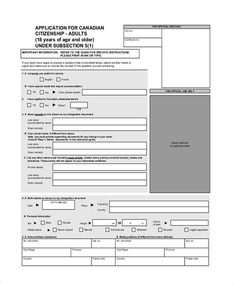 www citizenship application form sle citizenship application form 9 free documents in pdf