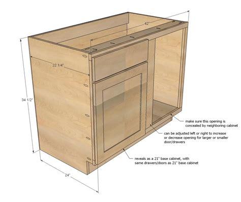 blind corner kitchen cabinet dimensions white 42 quot base blind corner cabinet momplex