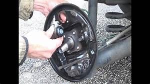 R U00fcckseite Trommelbremse    Bremsbacken Und Bremszylinder