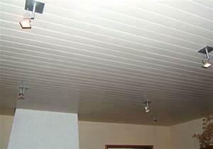 lambris pvc blanc brillant pour plafond obasinccom With lambris pvc pour cuisine