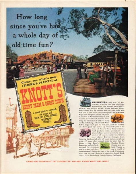 knotts berry farm ghost town vintage ad calico