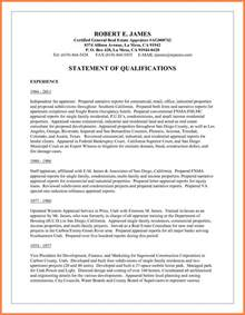 qualification statement on resume 6 statement of qualifications registration statement 2017