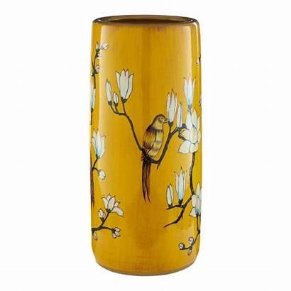 Umbrella Ceramic Stand Tropical Yellow Ochre Brandalley