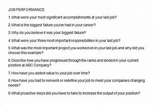 Sample Questionnaire Design 10 Free Sample Interview Questions Sample Templates