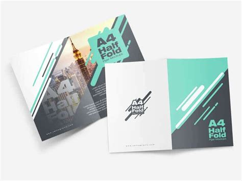 a4 half fold card template free a4 half fold flyer mockup uxfree lenient home