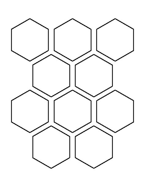 hexagon template pin by muse printables on printable patterns at patternuniverse hexagon