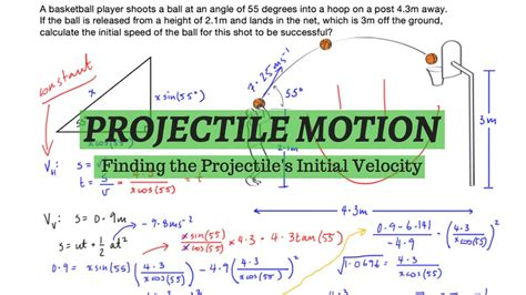 projectile motion finding launch velocity