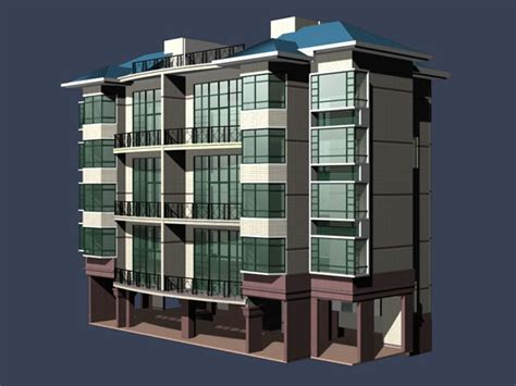 Multi-storey Residential Buildings 3d Model 3dsmax Files