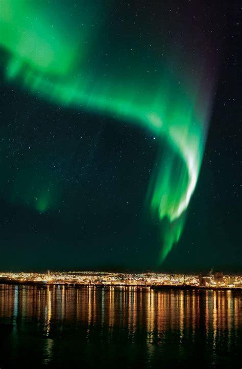 northern lights  boat whats   reykjavik iceland