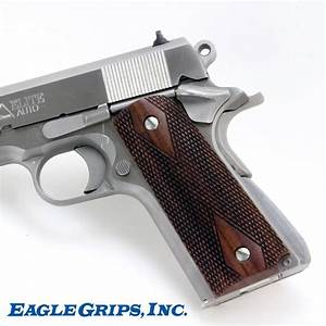 Colt 1911 Rosewood Checkered Grips
