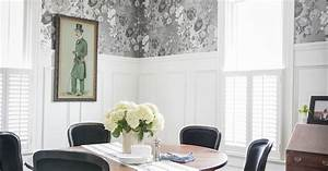 Black, And, Silver, Dining, Room, Decor