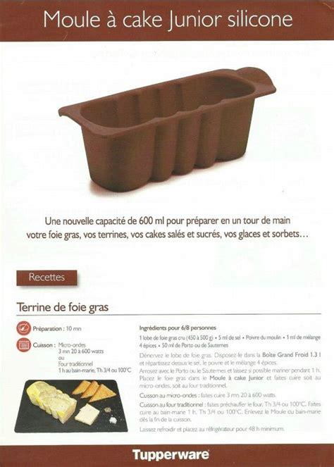 Recette Foie Gras Micro Onde Thierry Marx by Fiche Recette Moule 224 Cake Junior 1 2 Tupperware