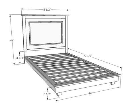 fillman platform twin platform bed ana white